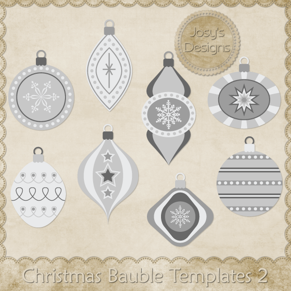 Christmas Bauble Layered Templates 2 by Josy