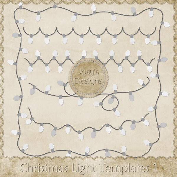 Christmas Lights Layered Templates by Josy