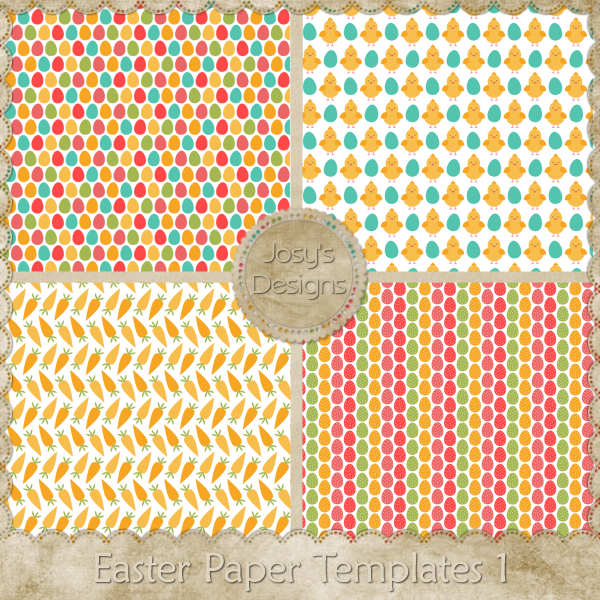 Easter Paper Layered Templates by Josy