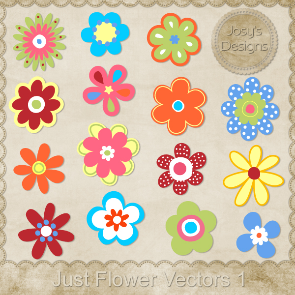 Just Flower Layered Vector Templates by Josy