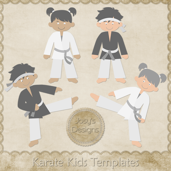 Karate Kids Layered Templates by Josy