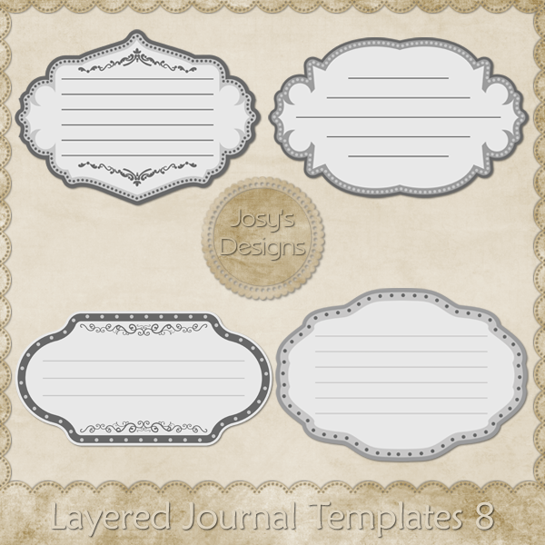 Layered Journal Templates 8 by Josy