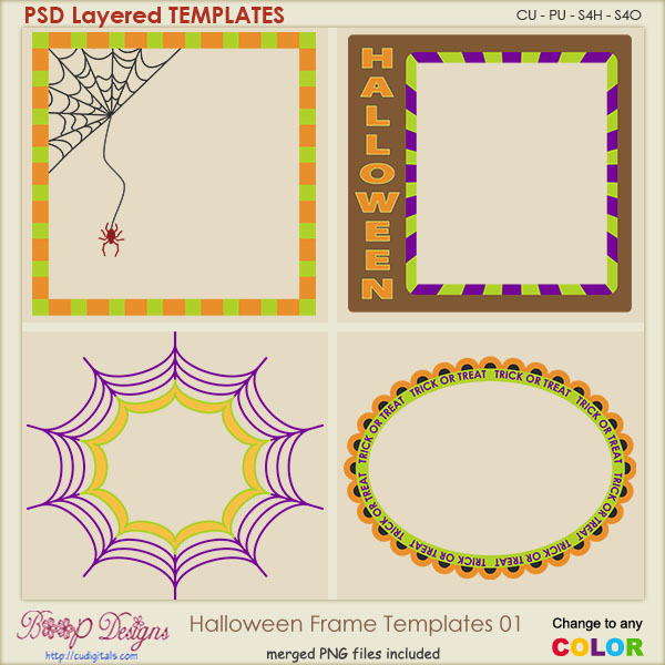 Halloween Layered Frame TEMPLATES 01