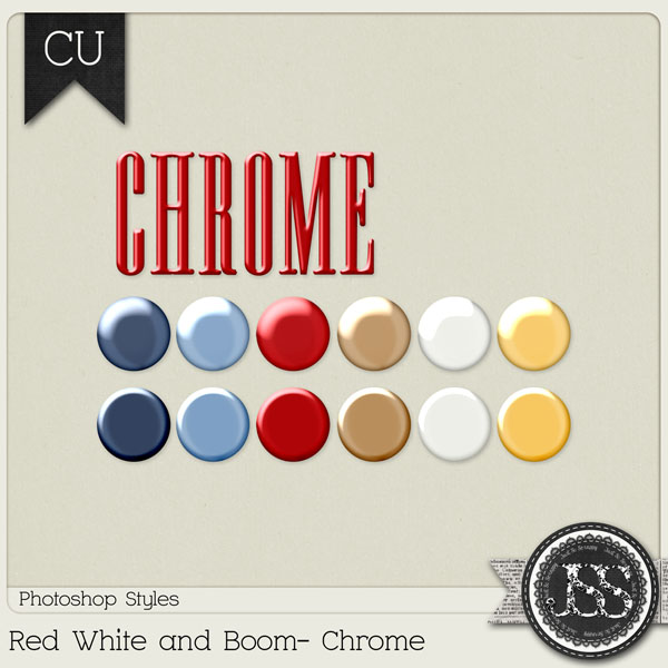 Red White and Boom Chrome PS Styles by Just So Scrappy