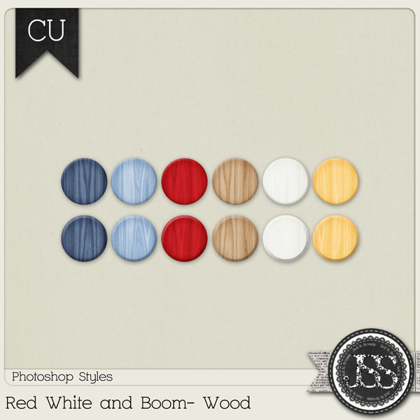 Red White and Boom Wood PS Styles by Just So Scrappy