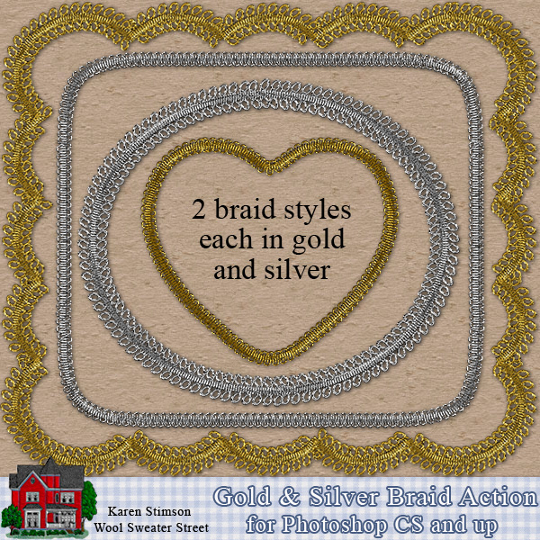 Gold & Silver Braid Action by Karen Stimson