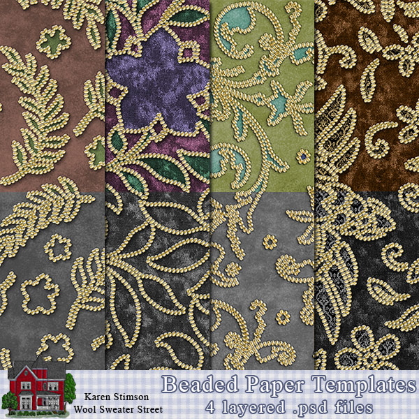 Beaded Paper Templates by Karen Stimson