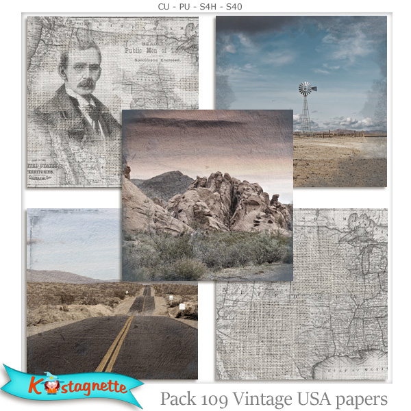 Pack 109 USA Papers by Kastagnette