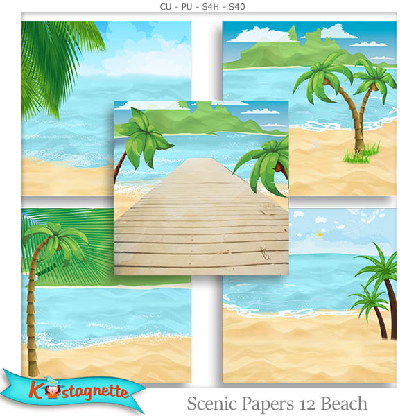 Scenic Papers 12 Beach by Kastagnette