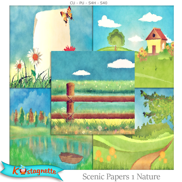 Scenic Papers 1 Nature by Kastagnette
