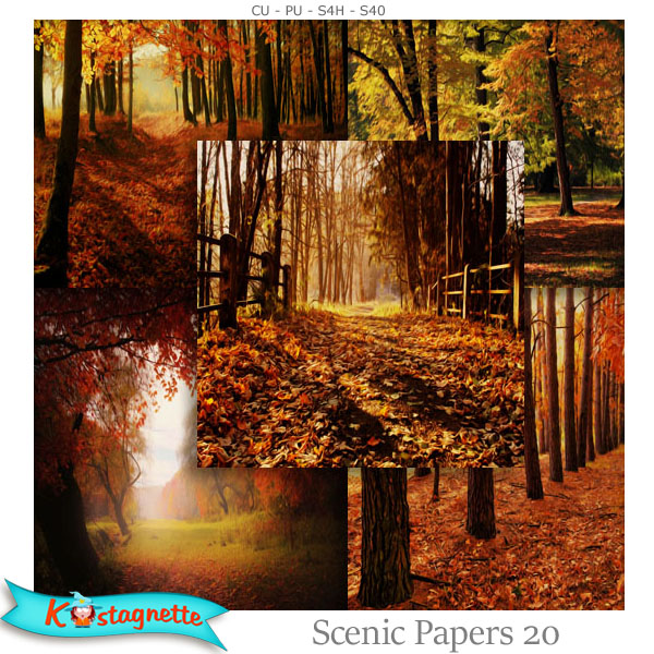Scenic Papers 20 by kastagnette autumn