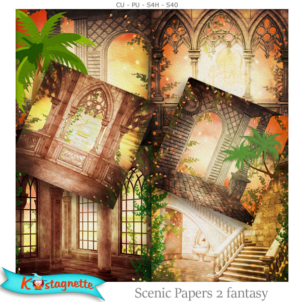 Scenic Papers 2 Fantasy by Kastagnette
