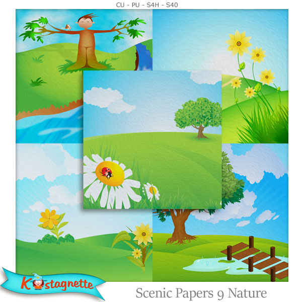 Scenic Papers 9 Nature by Kastagnette