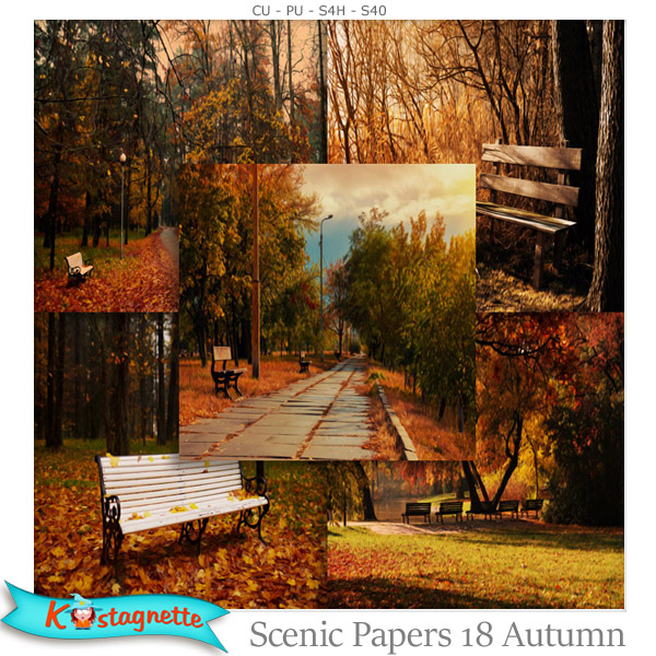 Scenic papers 18 Autumn by Kastagnette