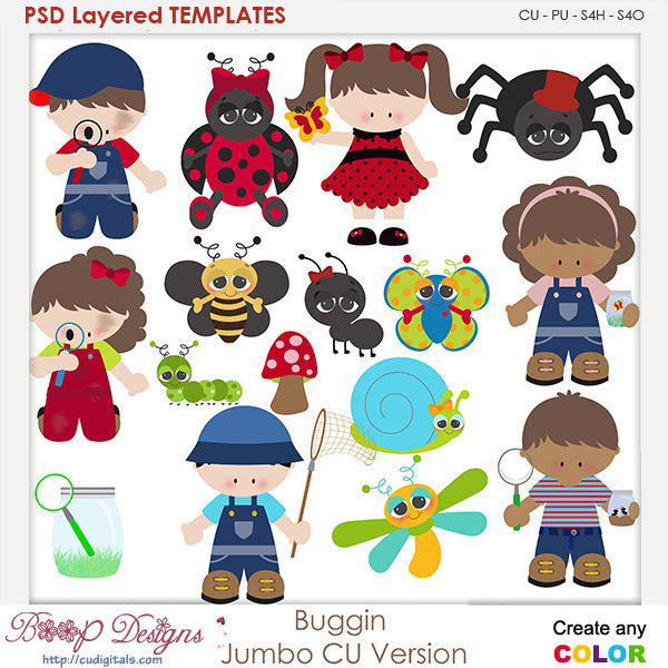 Buggin Jumbo Layered Element Templates