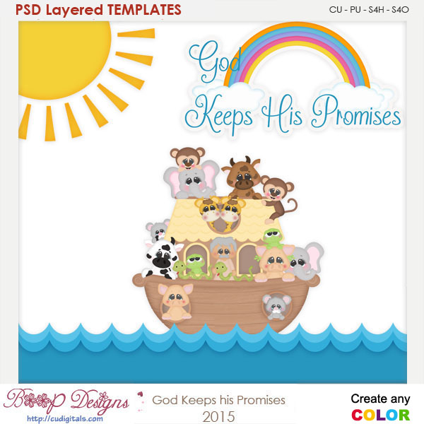 God Promise to Noah Layered Element Templates