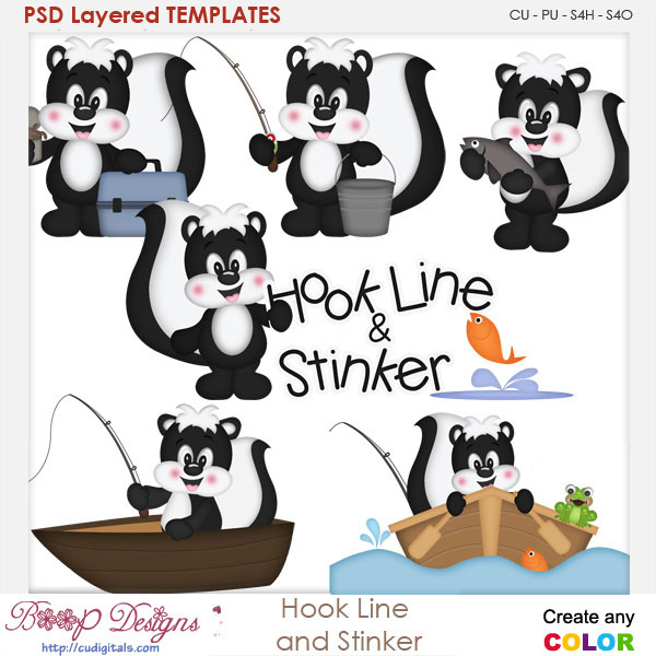 Hook Line and Stinker Layered Element Templates