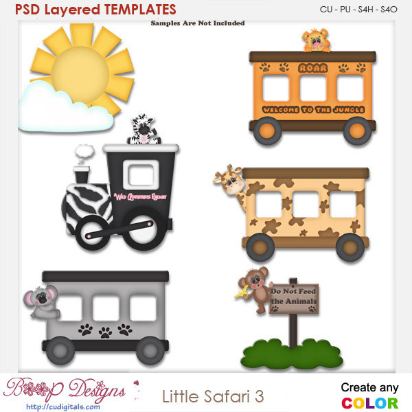 Little Safari 3 Layered Element Templates