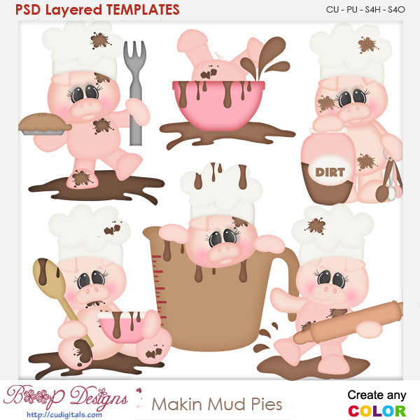 Making Mud Pies Layered Element Templates