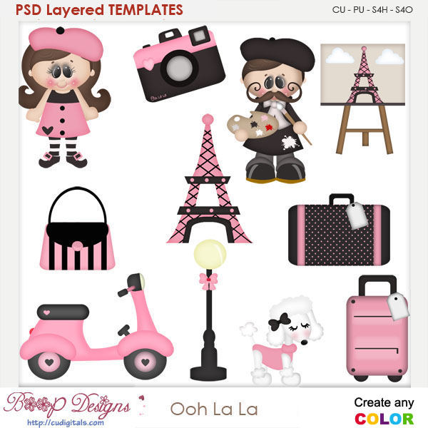 Ooh La La Layered Element Templates