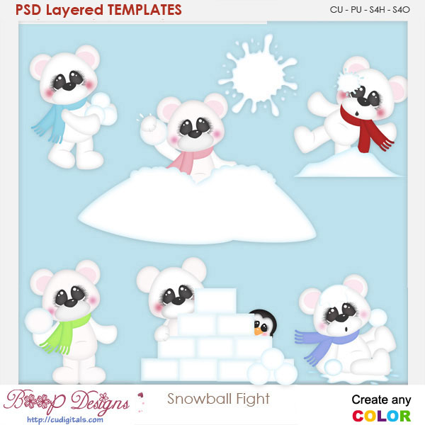 Snowball Fight Layered Element Templates