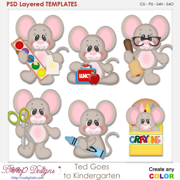 ted mouse goes to kindergarten element templates ted goes to