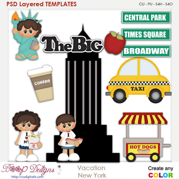 Vacation New York Layered Element Templates