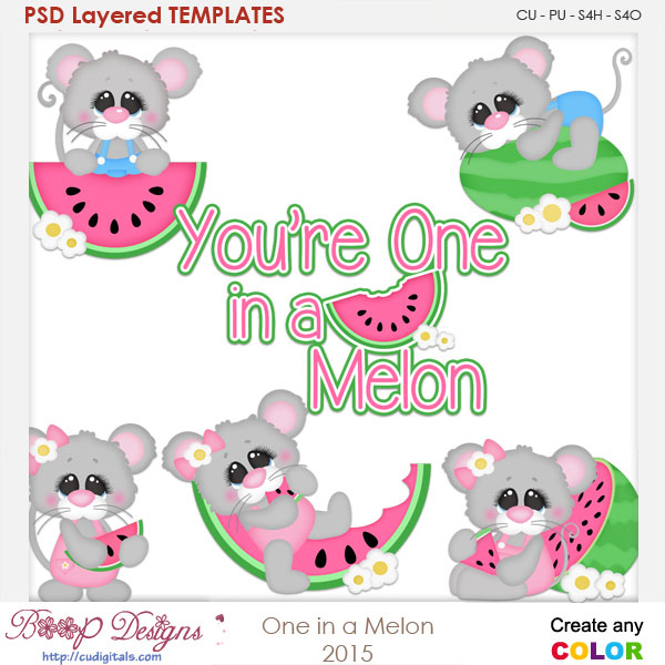 One In A Melon Layered Element Templates