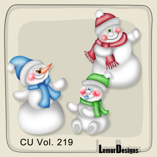 CU Vol 219 Snowmen by Lemur Designs