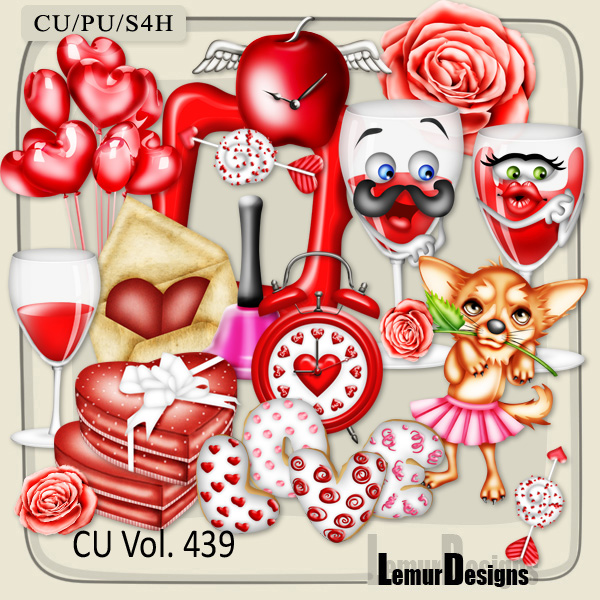 CU Vol 439 Valentine Love by Lemur Designs