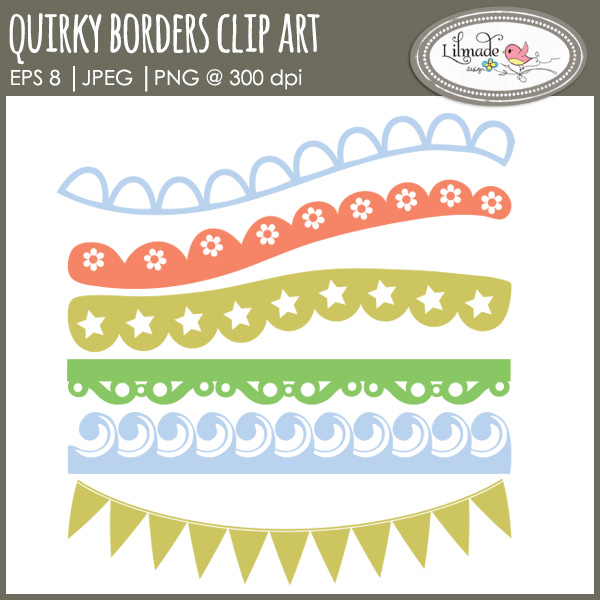 Quirky borders clip art lace clip artLilmade Designs