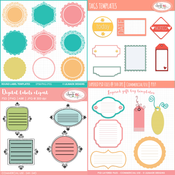 Label and tags templates bundleLilmade Designs