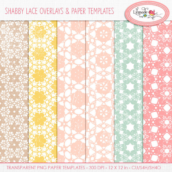 Shabby lace overlaysLilmade Designs