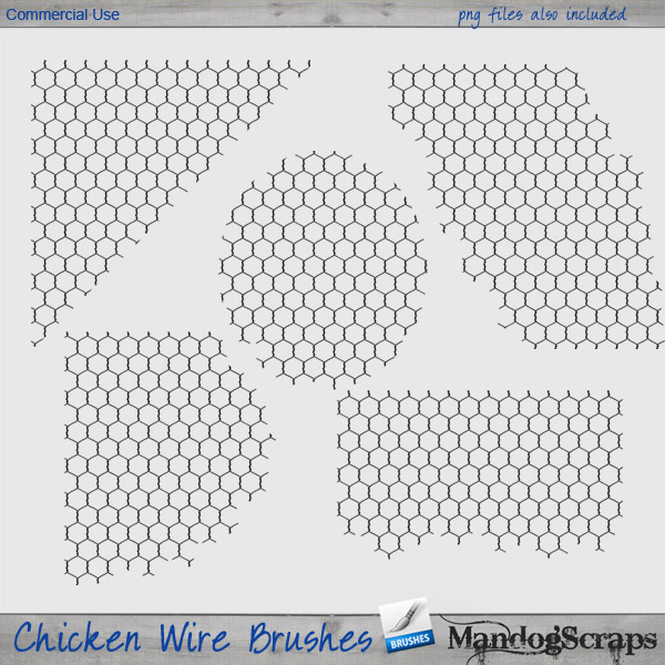 Chicken Wire Brushes by Mandog Scraps