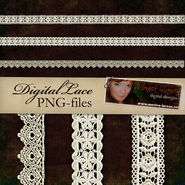 Digital Lace - PNG files by Monica Larsen