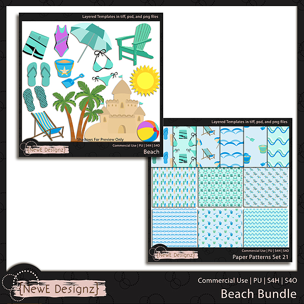 EXCLUSIVE Layered Beach Templates BUNDLE by NewE Designz