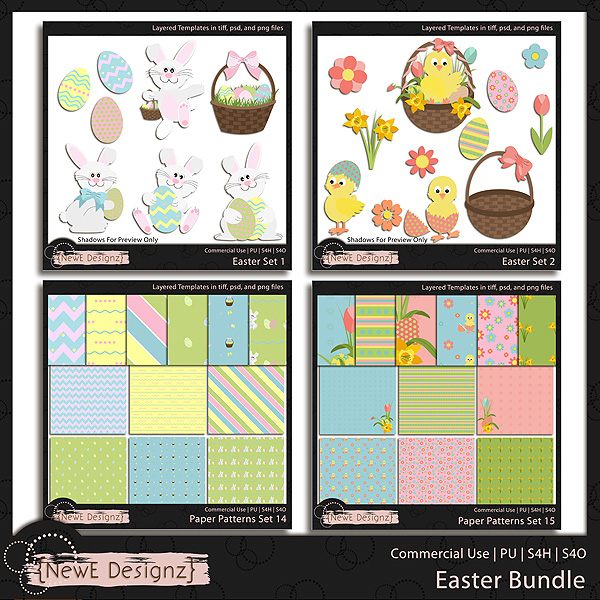 EXCLUSIVE Layered Easter Templates BUNDLE by NewE Designz