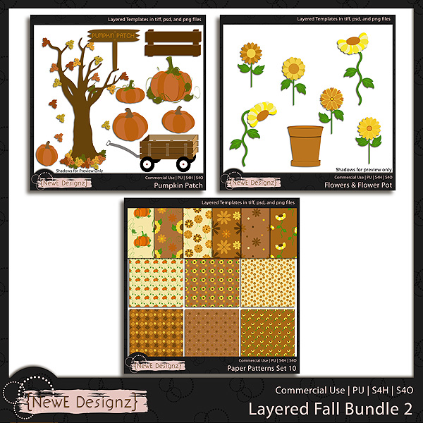 EXCLUSIVE Layered Fall BUNDLE 2 Templates by NewE Designz