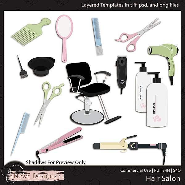 EXCLUSIVE Layered Hair Salon Templates By NewE Designz