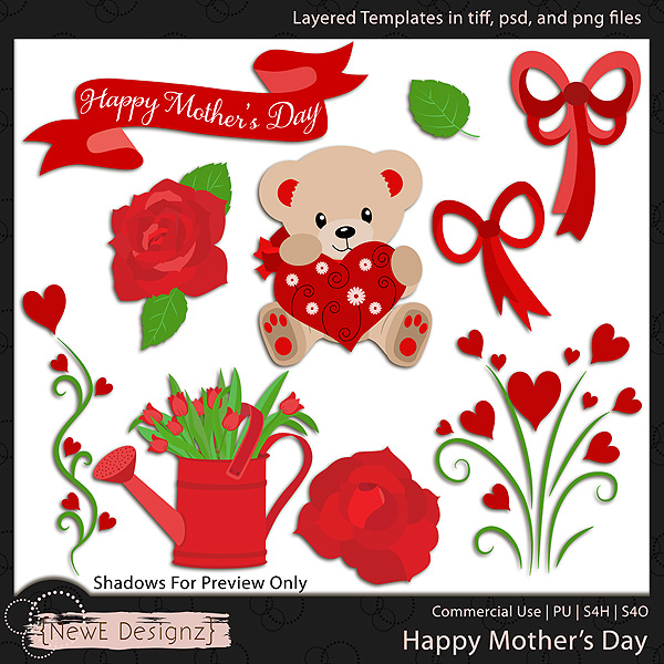 EXCLUSIVE Layered Happy Mothers Day Templates by NewE Designz