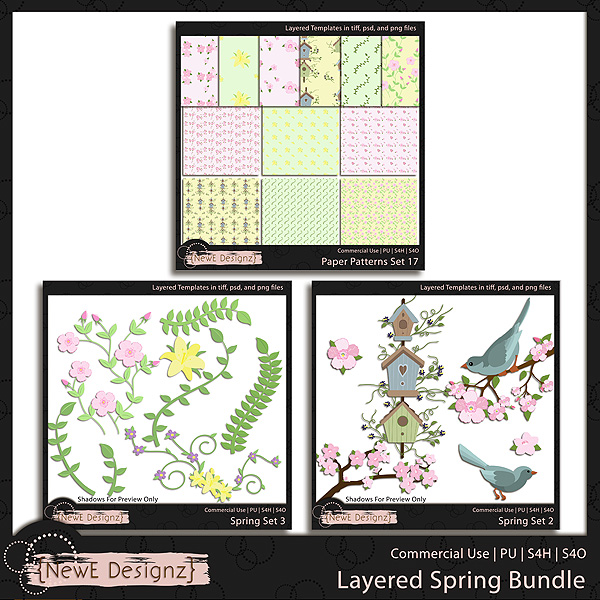 EXCLUSIVE Layered Spring Templates BUNDLE by NewE Designz