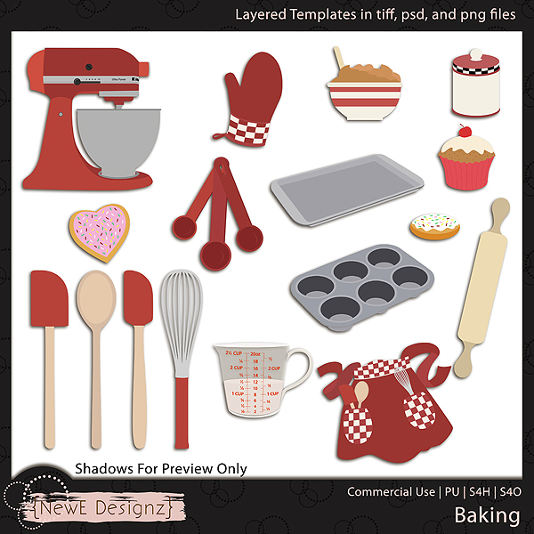 EXCLUSIVE Layered Baking Templates By NewE Designz