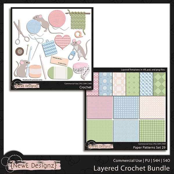 EXCLUSIVE Layered Crochet Templates BUNDLE by NewE Designz