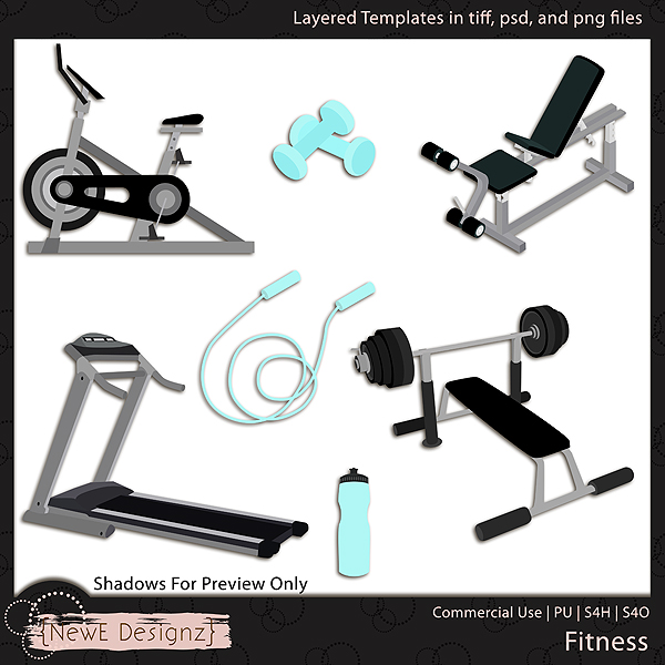 EXCLUSIVE Layered Fitness Templates by NewE Designz