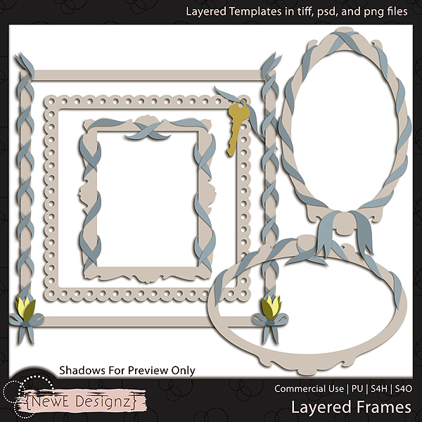 EXCLUSIVE Layered Frame Templates by NewE Designz