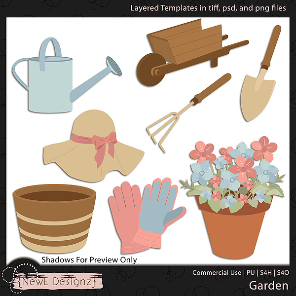 EXCLUSIVE Layered Garden Templates by NewE Designz