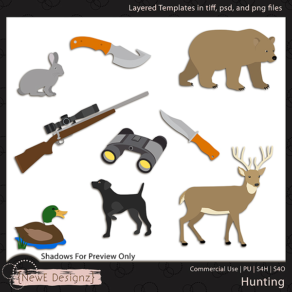 EXCLUSIVE Layered Hunting Templates by NewE Designz