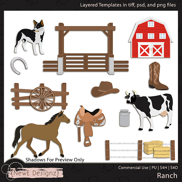 EXCLUSIVE Layered Ranch Templates By NewE Designz