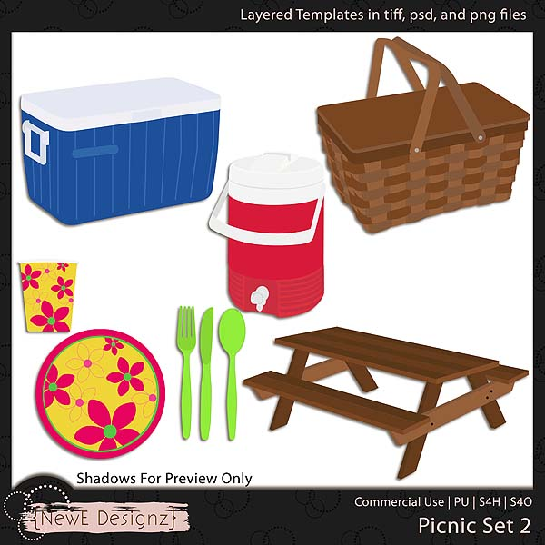EXCLUSIVE Layered Picnic Templates Set 2 by NewE Designz