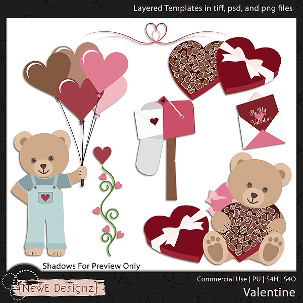 EXCLUSIVE Layered Valentine Templates by NewE Designz